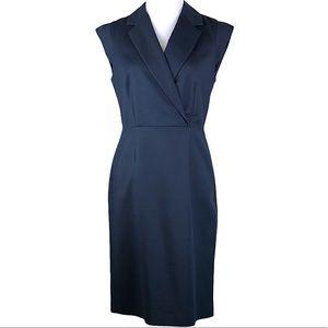 Banana Republic Navy Blue Career Sheath Dress